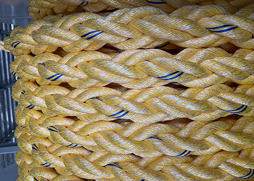 聚酯纤维混合八股缆绳案例